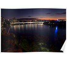 Brisbane City view from Kangaroo Point Poster