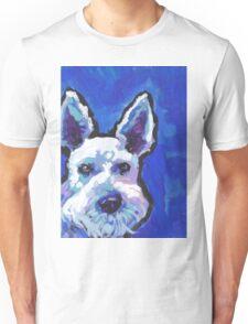 White Schnauzer Bright colorful pop dog art Unisex T-Shirt