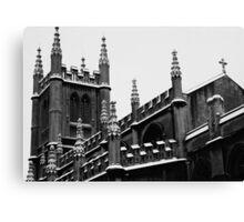 Snowy Church in Bath, England Canvas Print