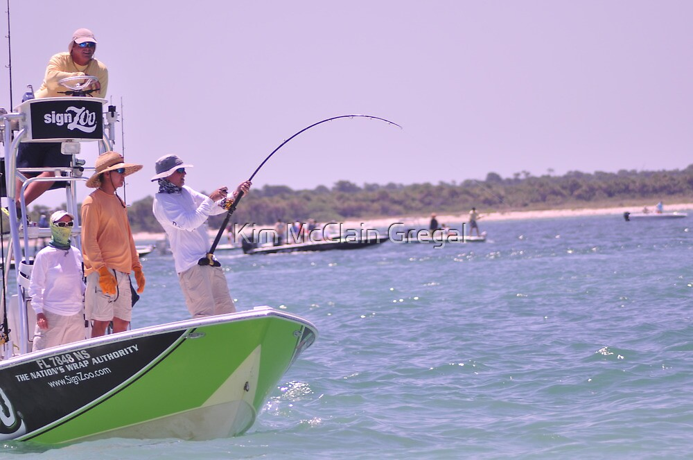 Team SignZoo Practicing for Tarpon Tournament by Kim McClain Gregal