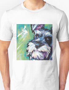 Schnauzer Bright colorful pop dog art Unisex T-Shirt
