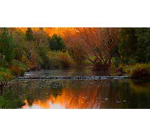 Autumn Weir Photographic Print