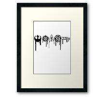 Fandom Symbols Framed Print