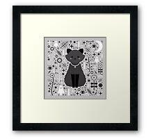 Kitten Fang Framed Print