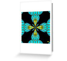 Turquoise Hearts Greeting Card