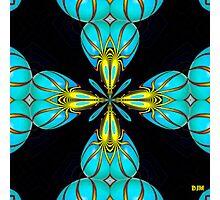 Turquoise Hearts Photographic Print
