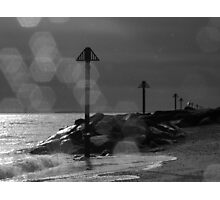 Tide Markers in Black & White Photographic Print