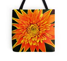 Orange Star Flower Tote Bag