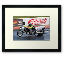 Dragster motorcycle Framed Print