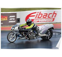 Dragster motorcycle Poster