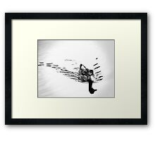 Duck in B&W Framed Print