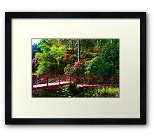 Portmeirion - Japanese garden, Wales Framed Print