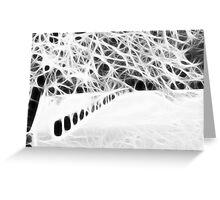 Fantasy winter snow dream way Greeting Card