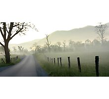 Cades Cove Morning Mist Photographic Print