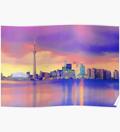 Colorful Cityscape Poster