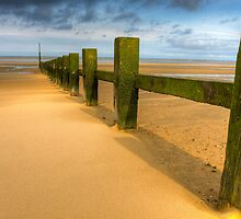 Wave breakers at sunny beach by StefanFierros