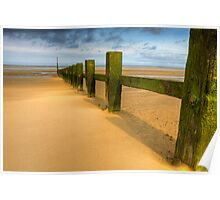 Wave breakers at sunny beach Poster