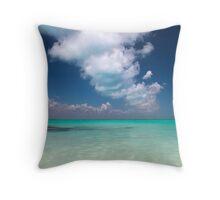 caribbean sea and sky Throw Pillow
