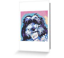 Cockapoo Dog Bright colorful pop dog art Greeting Card