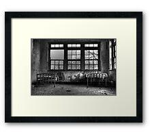 Roommates, Abandoned Hospital New England Framed Print