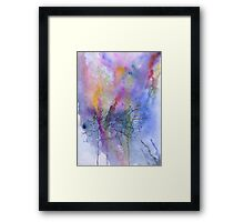 Naked trees on abstract Framed Print