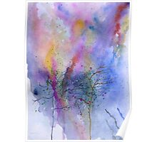 Naked trees on abstract Poster