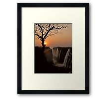 Victoria Falls Sunset Framed Print