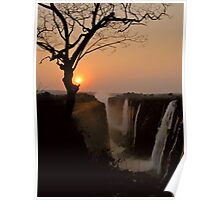 Victoria Falls Sunset Poster
