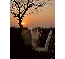 Victoria Falls Sunset Photographic Print
