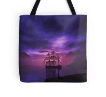 Clipper Ship at Sunset Tote Bag