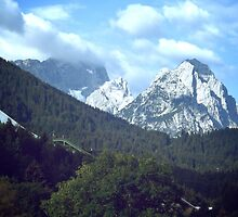 View from Garmisch-Partenkirchen by Lisa Hafey