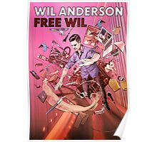 Wil Anderson - Free Wil (poster) Poster