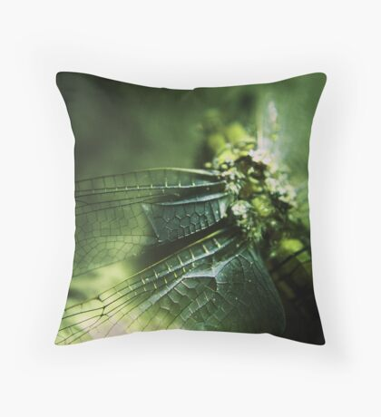 Beauty in the Breakdown - Green Throw Pillow