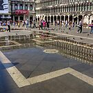 Reflections in Piazza San Marco by Tom Gomez