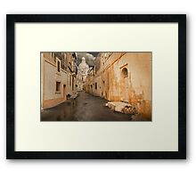 Siggiewi --- Dull Morning Framed Print