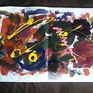 Paint Brush Napkin by Luisa Zajko