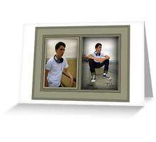 Sample Graduation Portrait Framed3 Greeting Card