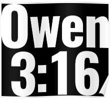 Owen 3:16 T-Shirt Poster