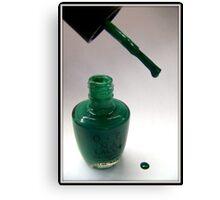 Green Nail Polish Canvas Print