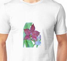Terrestrial Pink Orchid Flower Unisex T-Shirt