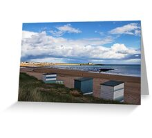 Beach Huts At Elie Greeting Card