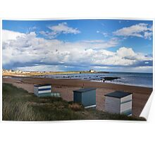 Beach Huts At Elie Poster