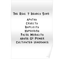 THE REAL 7 DEADLY SINS Poster