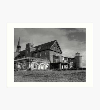 Patient Drop Off, Abandoned Seaside Sanatorium Connecticut, Long Island Sound Art Print