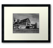 Patient Drop Off, Abandoned Seaside Sanatorium Connecticut, Long Island Sound Framed Print