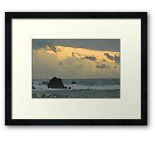 Ocean Haiku Framed Print