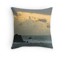 Ocean Haiku Throw Pillow