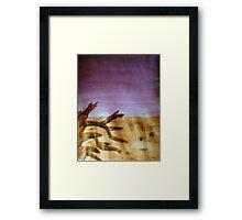 Life in the desert, watercolor Framed Print
