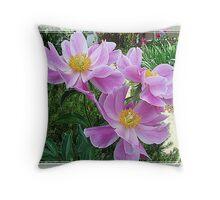 Pink For Cancer Awareness Throw Pillow