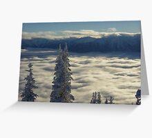 Winter Clouds at Hurricane Ridge Greeting Card